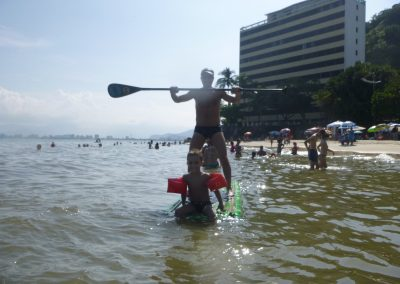 Loving his first SUP experience