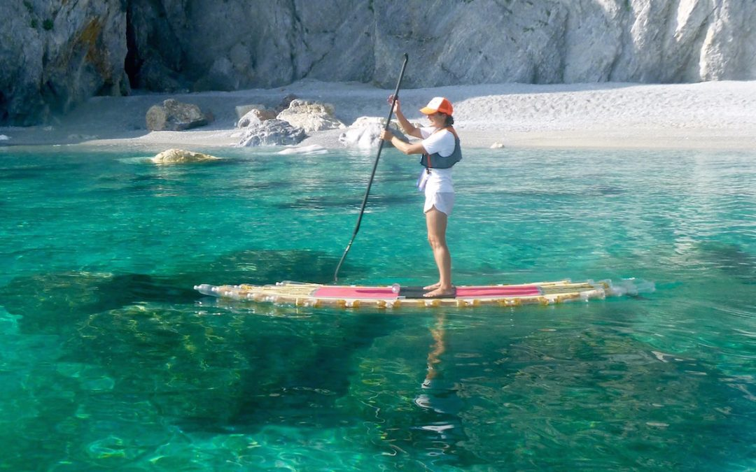 First to SUP around the Stunning Island of Skiathos, Greece on Marathon 7