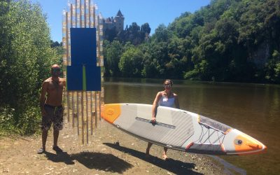First ever marathon on a SUP made of PLASTIC BOTTLES